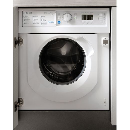 Indesit BIWMIL71252UKN Integrated 7Kg Washing Machine with 1200 rpm - White - E Rated