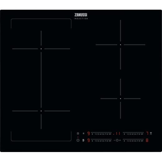 Zanussi ZIFN644K 59cm Induction Hob - Black
