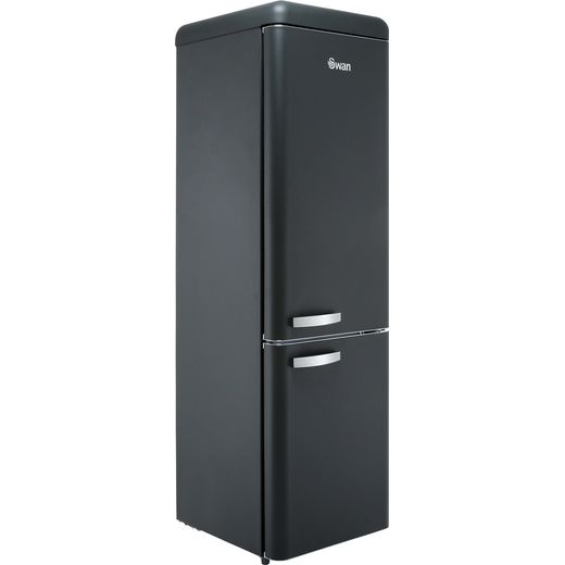 Swan Retro Slimline SR11025BN 70/30 Fridge Freezer - Black - F Rated