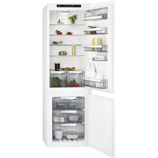 AEG SCE818E6TS Integrated 70/30 Frost Free Fridge Freezer with Sliding Door Fixing Kit - White - E Rated