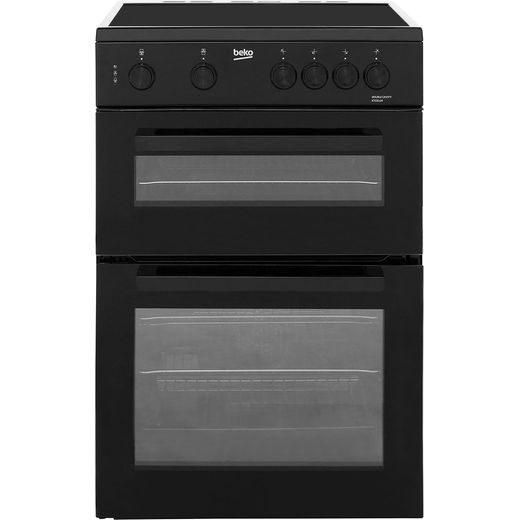 Beko KTC611K 60cm Electric Cooker with Ceramic Hob - Black - A Rated