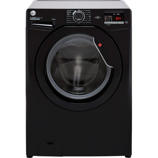 Hoover H-WASH 300 H3W4102DBBE 10Kg Washing Machine with 1400 rpm - Black - E Rated