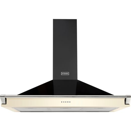 Stoves S1000 RICH CHIM RAIL 100 cm Chimney Cooker Hood - Cream - A Rated