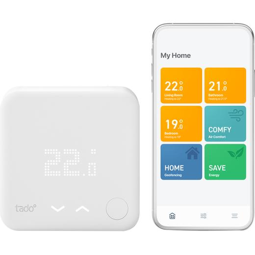 tado Starter Kit - Wired Smart Thermostat V3+ - DIY Install - White
