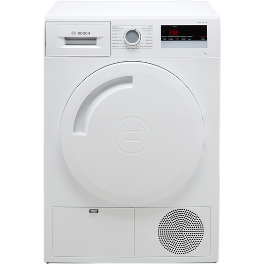 Bosch Serie 4 WTN83201GB 8Kg Condenser Tumble Dryer - White - B Rated