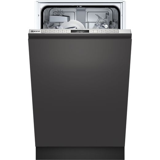NEFF N50 S975HKX20G Fully Integrated Slimline Dishwasher - Stainless Steel Control Panel - E Rated