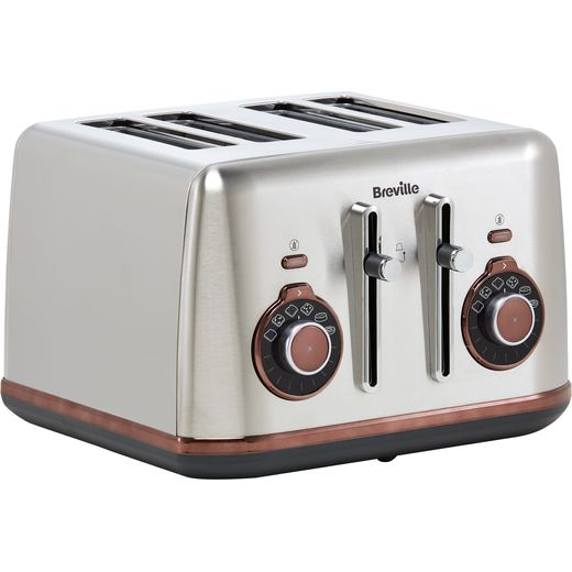 Breville Selecta VTT953 4 Slice Toaster - Brushed Stainless Steel
