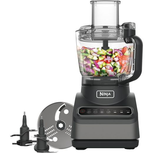 Ninja BN650UK 2.1 Litre Food Processor With 4 Accessories - Silver