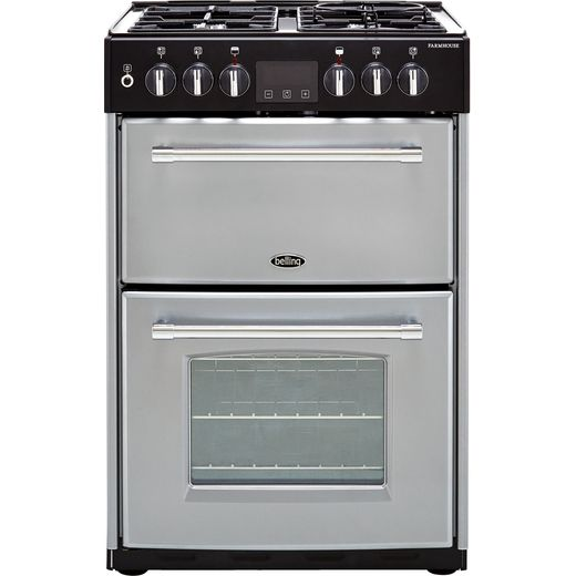 Belling Farmhouse60DF 60cm Dual Fuel Cooker - Silver - A/A Rated