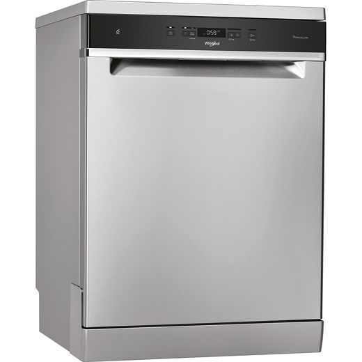 Whirlpool WFC3C33PFXUK Standard Dishwasher - Stainless Steel Effect - D Rated
