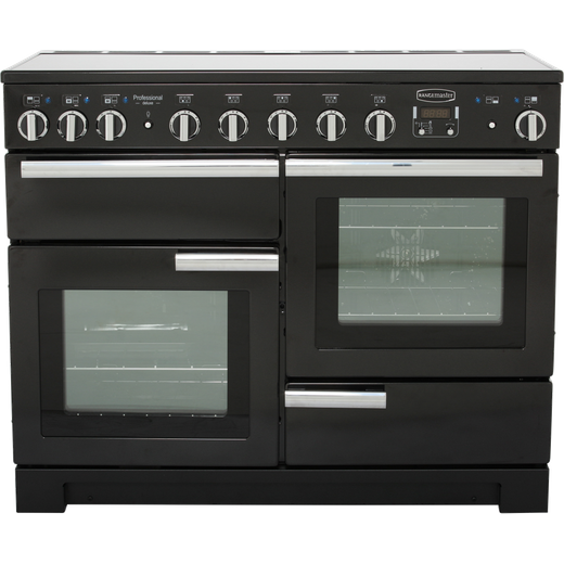 Rangemaster Professional Deluxe PDL110EIGB/C 110cm Electric Range Cooker with Induction Hob - Black - A/A Rated