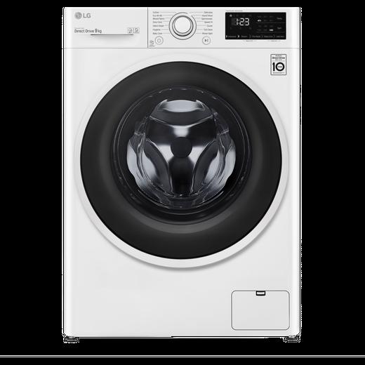 LG FAV309WNE 9Kg Washing Machine with 1400 rpm - White - B Rated