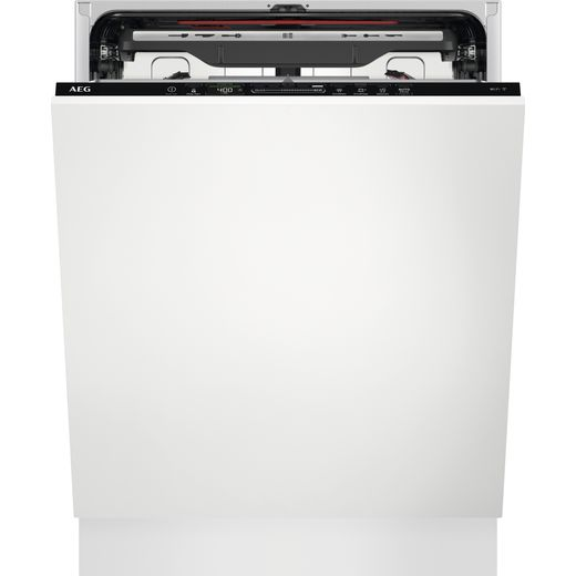 AEG FSS73718P Wifi Connected Fully Integrated Standard Dishwasher - Black Control Panel - D Rated