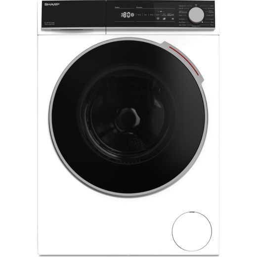 Sharp ES-NFH014CWC-EN 10Kg Washing Machine with 1400 rpm - White - C Rated