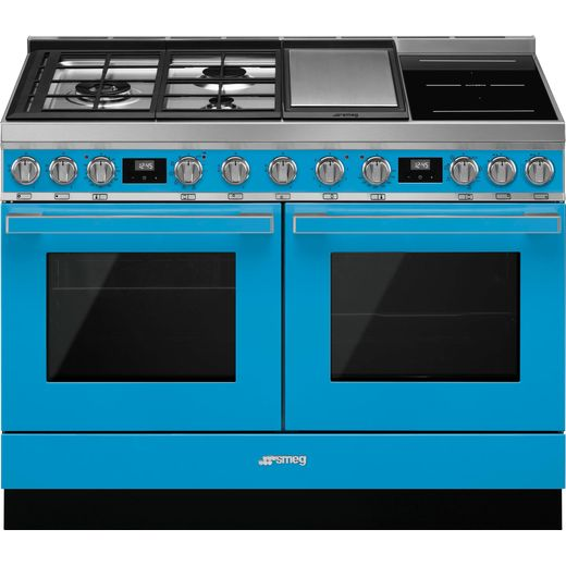 Smeg Portofino CPF120IGMPT 120cm Dual Fuel Range Cooker - Turquoise - A+/A Rated