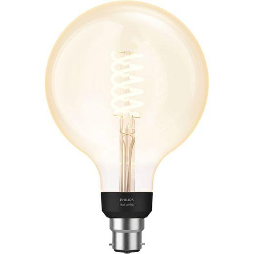 Philips Hue B22 Filament Globe Smart Bulb - A+ Rated
