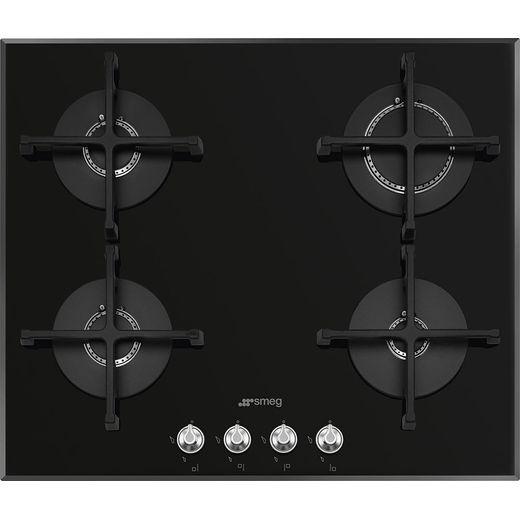 Smeg Linea PV164N2 60cm Gas Hob - Black