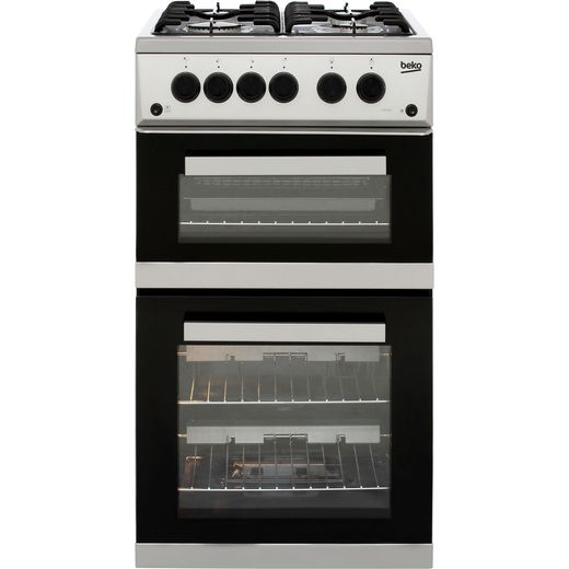 Beko KDG582S 50cm Gas Cooker with Full Width Gas Grill - Silver - A+ Rated
