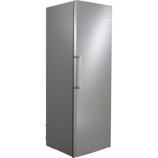 Bosch Serie 4 GSN36VLFP Frost Free Upright Freezer - Stainless Steel Effect - F Rated