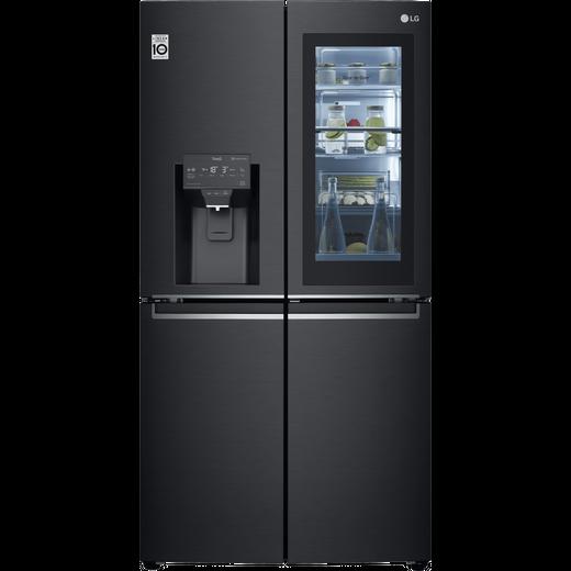 LG InstaView™ Door-in-Door™ GMX945MC9F Wifi Connected American Fridge Freezer - Black - F Rated