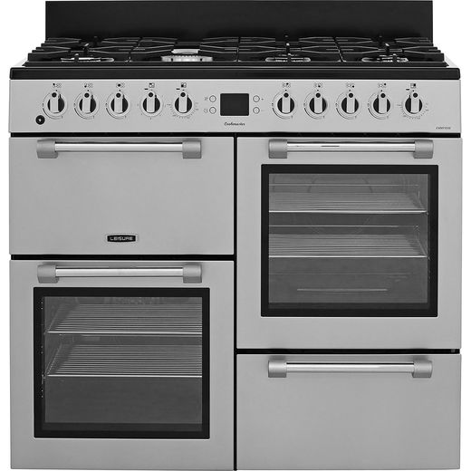 Leisure Cookmaster 100 CK100F232S 100cm Dual Fuel Range Cooker - Silver - A/A Rated