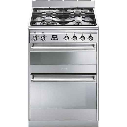 Smeg Concert SUK62MX8 60cm Dual Fuel Cooker - Stainless Steel - A/A Rated