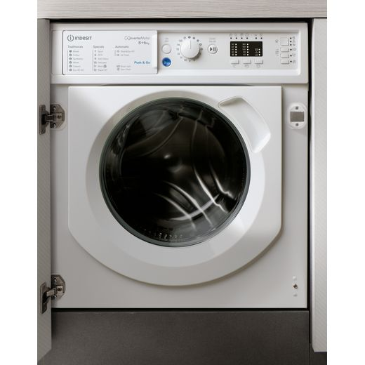 Indesit BIWDIL861284UK Integrated 8Kg / 6Kg Washer Dryer with 1200 rpm - White - D Rated
