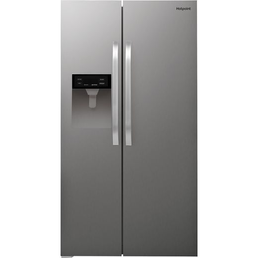 Hotpoint SXBHE924WDUK1 American Fridge Freezer - Stainless Steel Effect - F Rated