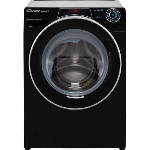 Candy Rapido RO1696DWMCEB Wifi Connected 9Kg Washing Machine with 1600 rpm - Black - A Rated