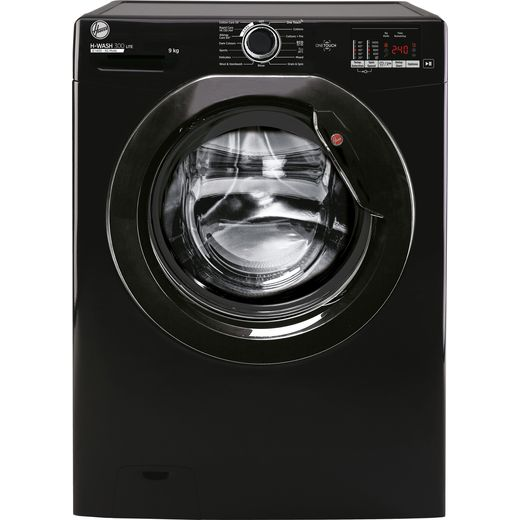 Hoover H-WASH 300 H3W492DBBE/1 9Kg Washing Machine with 1400 rpm - Black - D Rated