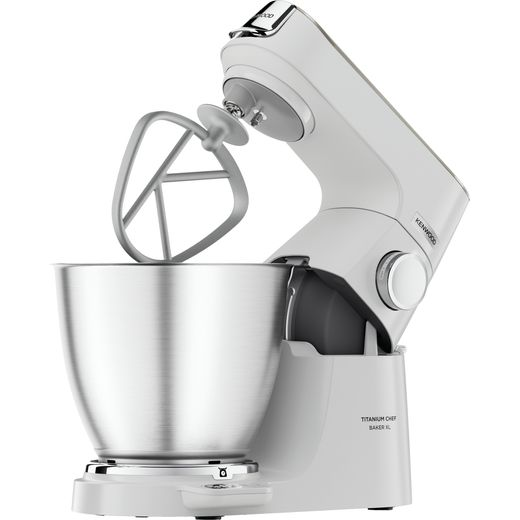 Kenwood Chef KVL65.001WH Stand Mixer with 6.7 Litre Bowl - White