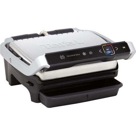 Tefal OptiGrill Elite GC750D40 Health Grill - Stainless Steel