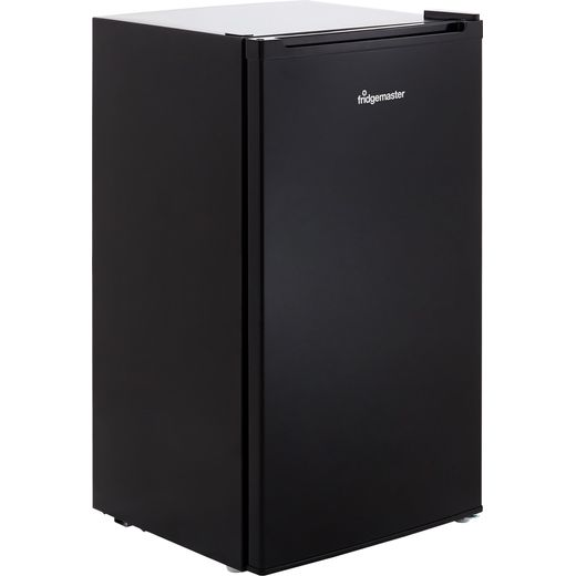 Fridgemaster MUR4892MB Fridge with Ice Box - Black - F Rated