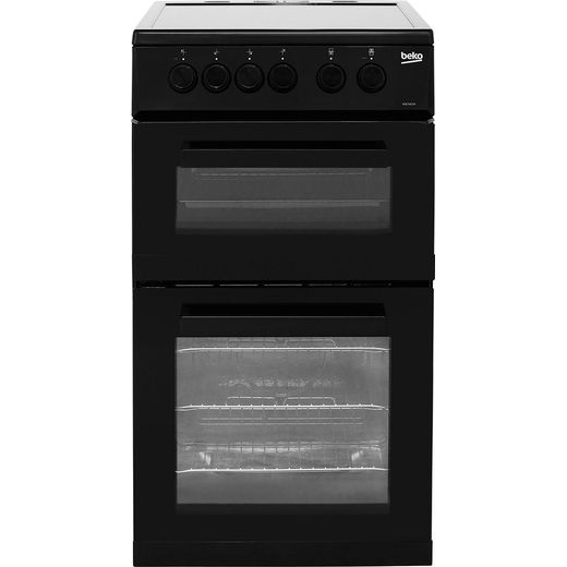 Beko KDC5422AK 50cm Electric Cooker with Ceramic Hob - Black - A Rated