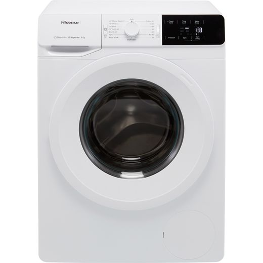 Hisense WFGE80141VM 8Kg Washing Machine with 1400 rpm - White - B Rated
