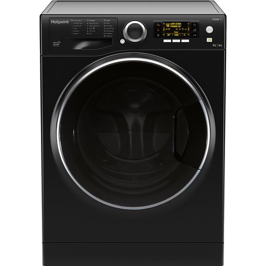 Hotpoint RD966JKDUKN 9Kg / 6Kg Washer Dryer with 1600 rpm - Black - E Rated