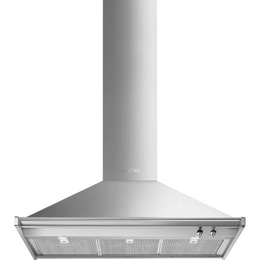Smeg Classic KD100HXE 100 cm Chimney Cooker Hood - Stainless Steel - A+ Rated