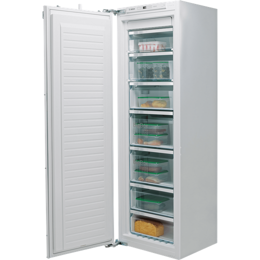 Bosch Serie 6 GIN81AEF0G Integrated Frost Free Upright Freezer with Fixed Door Fixing Kit - F Rated