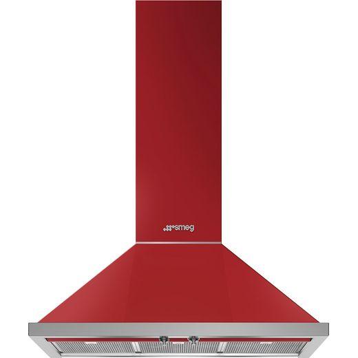 Smeg Portofino KPF9RD 90 cm Chimney Cooker Hood - Red - A+ Rated