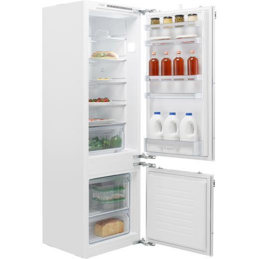 Bosch Serie 4 KIV87VFF0G Integrated 70/30 Fridge Freezer with Fixed Door Fixing Kit - White - F Rated