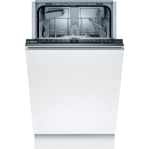 Bosch Serie 2 SPV2HKX39G Wifi Connected Fully Integrated Slimline Dishwasher - Stainless Steel Control Panel with Fixed Door Fixing Kit - E Rated