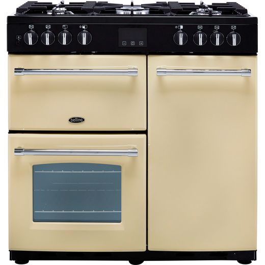 Belling Farmhouse90DFT 90cm Dual Fuel Range Cooker - Cream - A/A Rated