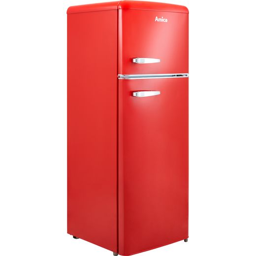 Amica FDR2213R 70/30 Fridge Freezer - Red - F Rated