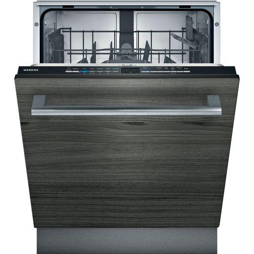 Siemens IQ-100 SE61IX12TG Fully Integrated Standard Dishwasher - Black Control Panel - E Rated