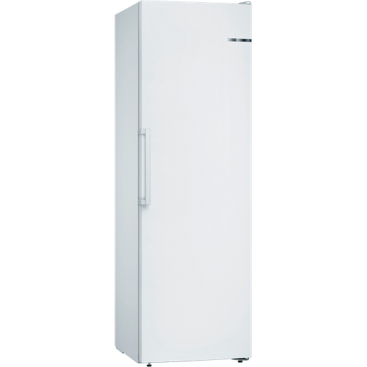 Bosch Serie 4 GSN36VWFPG Frost Free Upright Freezer with Fixed Door Fixing Kit - White - F Rated