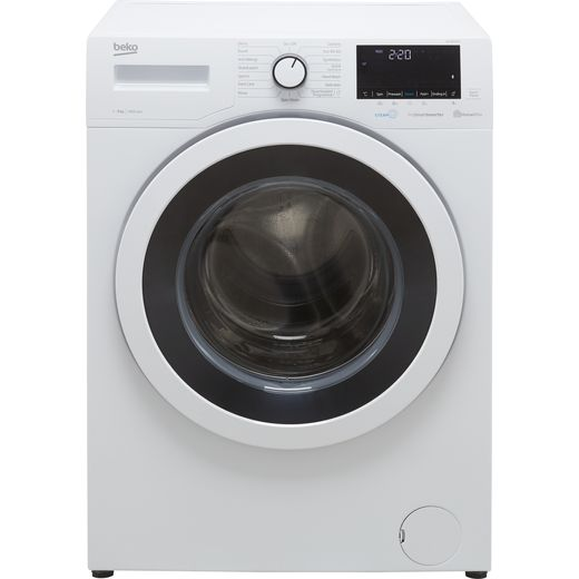 Beko SteamCure RecycledTub™ WEY96052W 9Kg Washing Machine with 1600 rpm - White - B Rated
