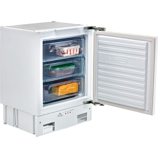 Hisense FUV126D4AW11 Integrated Under Counter Freezer with Fixed Door Fixing Kit - F Rated