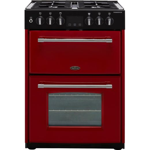 Belling Farmhouse60DF Dual Fuel Cooker - Hot Jalapeno - Needs 4.8KW Electrical Connection