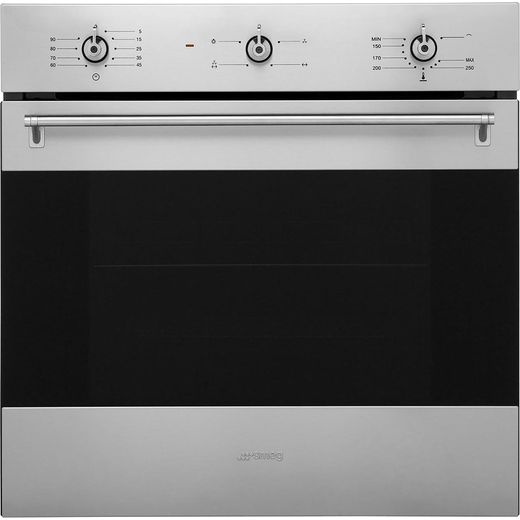 Smeg Classic SF6341GVX Built In Gas Single Oven with Full Width Electric Grill - Stainless Steel - A Rated