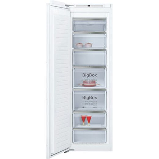 NEFF N70 GI7813EF0G Integrated Frost Free Upright Freezer with Fixed Door Fixing Kit - F Rated